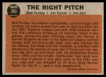 1962 Topps #263   -  Bob Purkey / Jim Turner / Joey Jay The Right Pitch Back Thumbnail