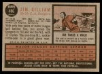 1962 Topps #486  Jim Gilliam  Back Thumbnail