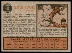 1962 Topps #400  Elston Howard  Back Thumbnail