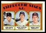 1972 Topps #724   -  John Curtis / Rich Hinton / Mickey Scott AL Rookies - Pitchers Front Thumbnail