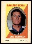 1970 Topps O-Pee-Chee Sticker Stamps #15  Earl Ingarfield  Front Thumbnail