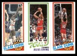 1980 Topps   -  Elving Hayes / Julius Erving / Ron Brewer 257 / 181 / 258 Front Thumbnail