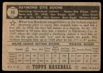 1952 Topps #55  Ray Boone  Back Thumbnail