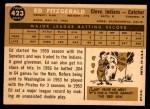 1960 Topps #423  Ed Fitzgerald  Back Thumbnail