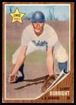 1962 Topps #348  Larry Burright  Front Thumbnail