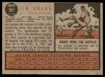 1962 Topps #307  Jim Mudcat Grant  Back Thumbnail