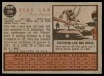 1962 Topps #295  Vern Law  Back Thumbnail