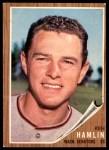 1962 Topps #296  Ken Hamlin  Front Thumbnail