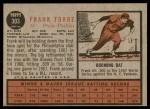 1962 Topps #303  Frank Torre  Back Thumbnail