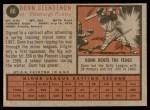1962 Topps #86  Donn Clendenon  Back Thumbnail