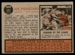 1962 Topps #247  Joe Pignatano  Back Thumbnail