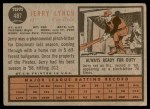 1962 Topps #487  Jerry Lynch  Back Thumbnail