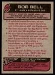 1977 Topps #241  Bob Bell  Back Thumbnail