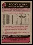 1977 Topps #281  Rocky Bleier  Back Thumbnail