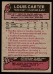 1977 Topps #268  Louis Carter  Back Thumbnail