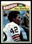 1977 Topps #185  Paul Warfield  Front Thumbnail