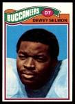 1977 Topps #178  Dewey Selmon  Front Thumbnail