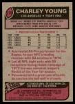 1977 Topps #275  Charley Young  Back Thumbnail