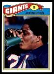 1977 Topps #277  John Hicks  Front Thumbnail