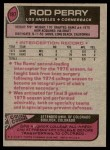 1977 Topps #197  Rod Perry  Back Thumbnail