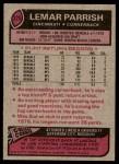 1977 Topps #325  Lemar Parrish  Back Thumbnail