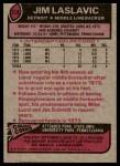 1977 Topps #318  Jim Laslavic  Back Thumbnail