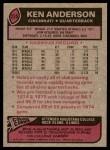 1977 Topps #235  Ken Anderson  Back Thumbnail