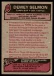 1977 Topps #178  Dewey Selmon  Back Thumbnail