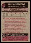 1977 Topps #199  Mike Hartenstine  Back Thumbnail