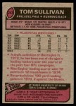 1977 Topps #243  Tom Sullivan  Back Thumbnail