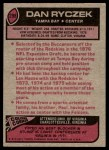 1977 Topps #298  Dan Ryczek  Back Thumbnail