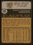 1973 Topps #585  Joe Niekro  Back Thumbnail