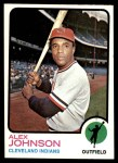 1973 Topps #425  Alex Johnson  Front Thumbnail