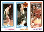 1980 Topps   -  Fred Brown / Larry Bird / Ron Brewer 228 / 31 / 198 Front Thumbnail