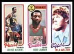 1980 Topps   -  George McGinnis / Bob Lanier / Bill Walton 121 / 10 / 222 Front Thumbnail