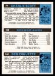 1980 Topps   -  Ben Poquette / Paul Westphal / Charlie Scott 241 / 188 / 77 Back Thumbnail