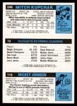 1980 Topps   -  Mickey Johnson / Dan Issel / Mitch Kupchak 119 / 72 / 249 Back Thumbnail
