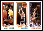1980 Topps   -  Mickey Johnson / Dan Issel / Mitch Kupchak 119 / 72 / 249 Front Thumbnail