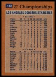 1978 Topps #412   NL Championships - Dodgers Overpower Phillies in Four Back Thumbnail