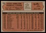 1972 Topps #766  Steve Hamilton  Back Thumbnail