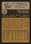 1973 Topps #597  Mickey Rivers  Back Thumbnail