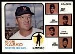 1973 Topps #131 BRN  -  Eddie Kasko / Doug Camilli /  Don Lenhardt / Eddie Popowski / Lee Stange Red Sox Leaders Front Thumbnail