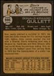 1973 Topps #595  Don Gullett  Back Thumbnail