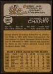 1973 Topps #507  Darrel Chaney  Back Thumbnail