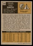 1971 Topps #244  Jackie Smith  Back Thumbnail