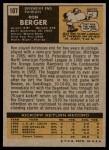 1971 Topps #107  Ron Berger  Back Thumbnail