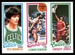 1980 Topps   -  Pete Maravich / Leonard Robinson / Dwight Jones 38 / 187 / 46 Front Thumbnail