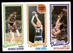 1980 Topps   -  George Gervin / Dan Issel / Mitch Kupchak 208 / 72 / 249 Front Thumbnail