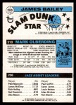 1980 Topps   -  Allan Bristow / Mark Olberding / James Bailey 236 / 210 / 255 Back Thumbnail