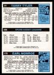 1980 Topps   -  Earl Monroe / James Silas / Terry Tyler 170 / 206 / 91 Back Thumbnail